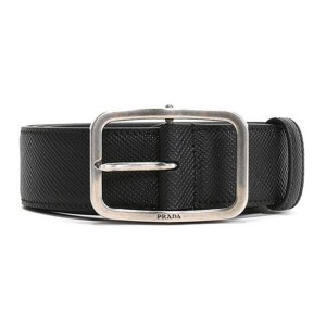 PRADA中文官网普拉达奢侈品品牌男士腰带牛皮十字纹针扣皮带2CS0132