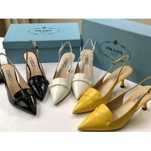 prada意大利官网普拉达原单女士真皮尖头细跟凉鞋高跟鞋1I659LF