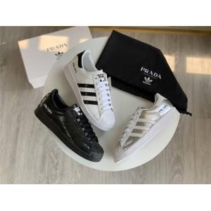 Prada x adidas originals Superstar联名款官网正品贝壳头运动鞋2EG320