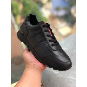 prada香港官网价格普拉达代购新款男鞋男士牛皮休闲运动鞋