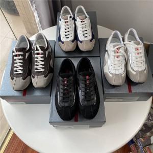 prada英国官网普拉达代购新款男鞋男士休闲系带运动鞋跑步鞋
