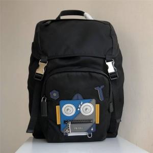 prada包包中文官网普拉达男士双肩包机器人图案背包2VZ135