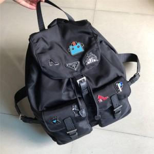prada中国官网普拉达代购双肩包机器人小辣椒尼龙背包1BZ811
