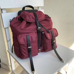 prada中国官网普拉达女士双肩包海外代购尼龙和Saffiano皮革背包1BZ063