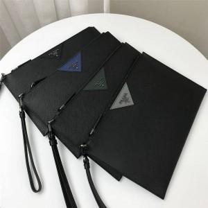 prada香港官网普拉达代购新款真皮Saffiano皮革手拿包2NG05V