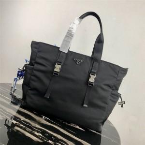 PRADA官网普拉达高仿包包新款尼龙织物手提袋购物袋2VG042