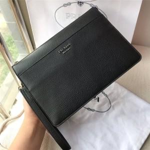 prada法国官网普拉达正品新款男士Saffiano 皮革手包手拿包2VF019