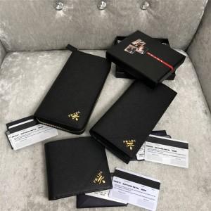 prada中文官网普拉达原单金色散标十字纹钱夹钱包2ML317/2MO836/2MO513