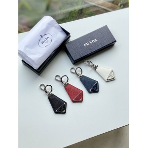 prada女包官网普拉达国际代购新款Saffiano 皮革钥匙扣2PP041