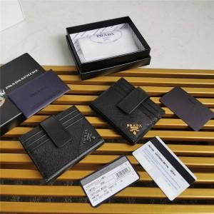 prada意大利官网普拉达原单男士短款Saffiano 皮革卡片夹卡包2MC049