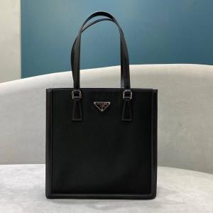 PRADA普拉达女包官网旗舰店代购皮革和尼龙托特包购物袋1BG363