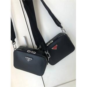 prada旗舰店普拉达官网正品红色标Saffiano 皮革斜挎包相机包2VH070