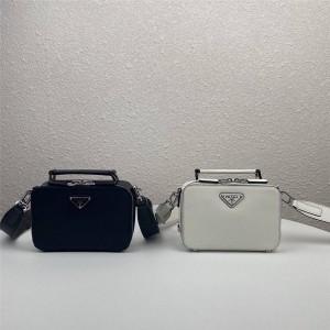 PRADA普拉达官网奢侈品代购网Saffiano皮革单肩包手提相机包2VH070