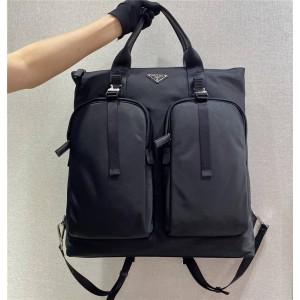 PRADA普拉达官方网站尼龙印花织物手提包双肩包2VG053