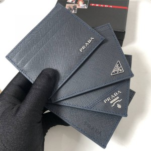 PRADA官网普拉达代购钱包十字纹牛皮真皮卡包卡片夹2MC223