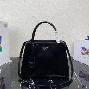 PRADA官网普拉达代购奢侈品新款亮面皮革手提包1BA321