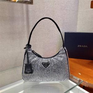 PRADA普拉达官网奢侈品牌Re-Edition 2000 钻石迷你手袋1NE515