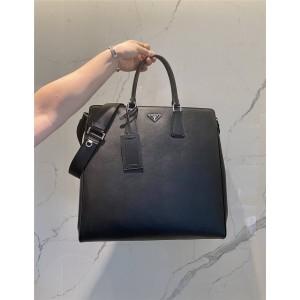 PRADA普拉达官网奢侈品购物男士Saffiano 皮革手提包公文包2VG066