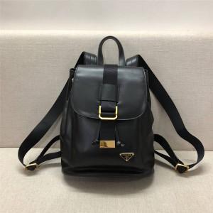 Prada普拉达官方网站女士双肩包新款全皮24K真金电镀五金背包书包